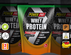 Протеин Whey Protein 2 кг вкус: банан-земляника