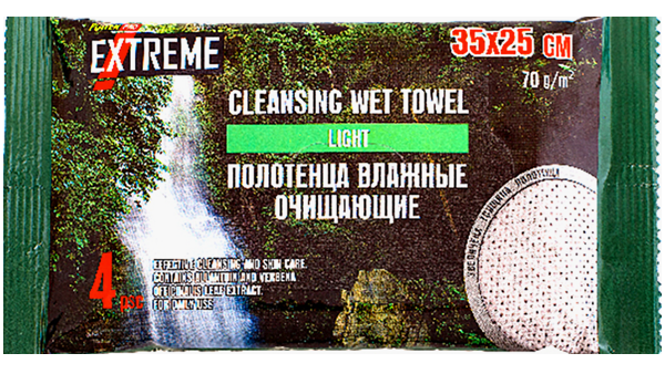 "Влажные полотенца ""Power Pro Light"" 35х25 см."