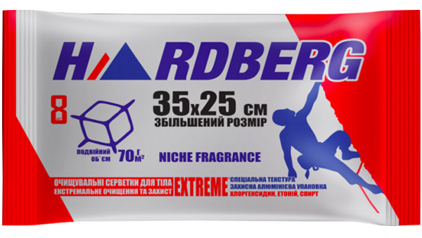"Влажные полотенца ""Hardberg Extreme"", 35х25 см"